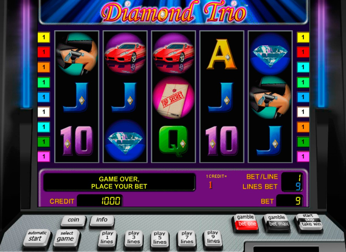 игровые автоматы играть бесплатно без регистрации алмазное трио